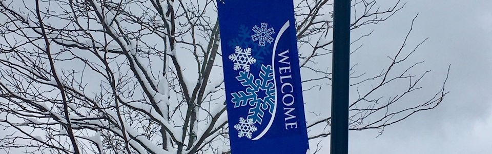 Winter Welcome Flag